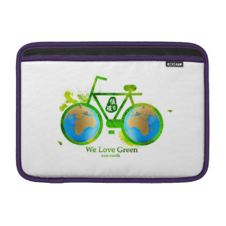 eco-friendly green bike MacBook Sleeves