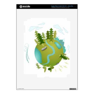 Eco Friendly Green Planet iPad 3 Skin
