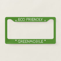 Eco Friendly Greenmobile   Clean Energy Green License Plate Frame