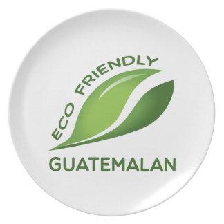 Eco Friendly Guatemalan. Melamine Plate