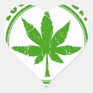 Eco Friendly Heart Sticker