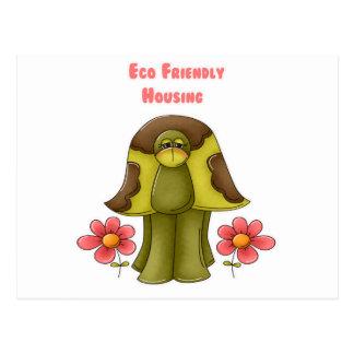 Eco Friendly Housing Turtle Postcard