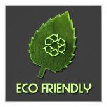 """Eco Friendly Invitation 5.25"""" Square Invitation Card"""