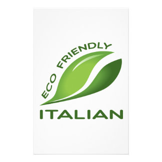 Eco Friendly Italian. Stationery