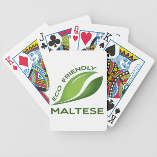 Eco Friendly Maltese. Bicycle Playing Cards