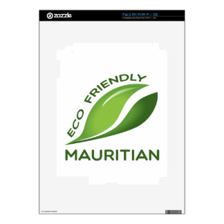 Eco Friendly Mauritian. Skin For The iPad 2