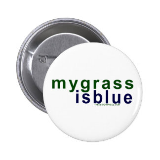 Eco-Friendly My Grass Is Blue Pinback Button