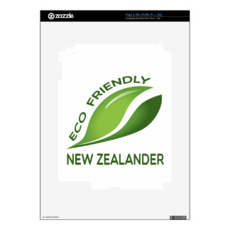 Eco Friendly New Zealander. Skins For The iPad 2