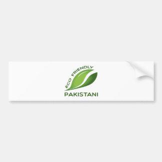 Eco Friendly Pakistani. Bumper Sticker