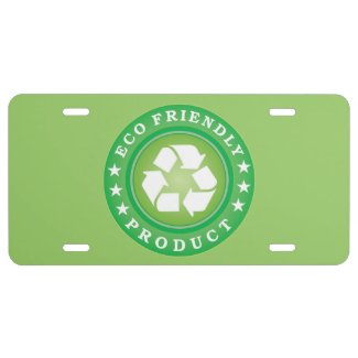 Eco Friendly Product License Plate