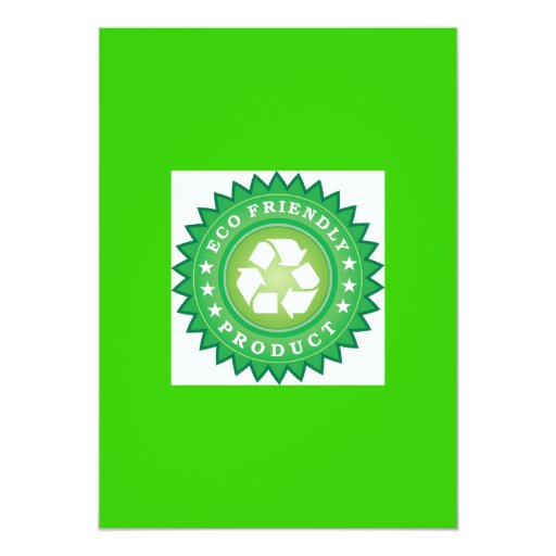 Eco Friendly Product Sticker 5x7 Paper Invitation Card