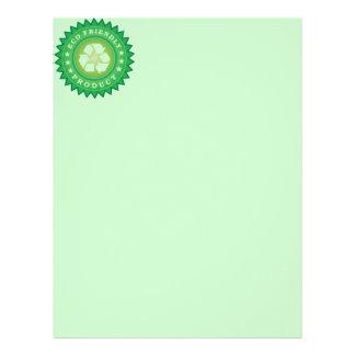 Eco Friendly Product Sticker Letterhead