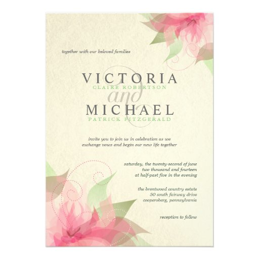 Eco-Friendly Recycled Paper Wedding Invitations