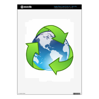 Eco Friendly Recycling World iPad 3 Skins
