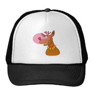 Eco-friendly Reindeer Red CFL Christmas Trucker Hat