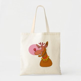 Eco-friendly Rudolph Reindeer Red CFL Christmas bag