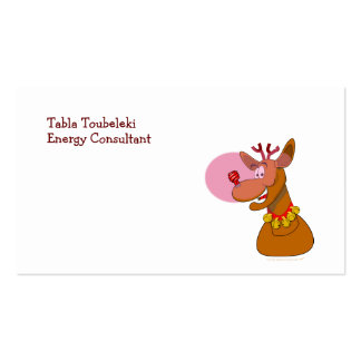 Eco-friendly Rudolph Reindeer Red CFL Christmas Business Card Templates