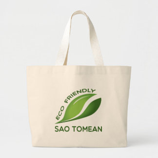 Eco Friendly Sao Tomean. Large Tote Bag