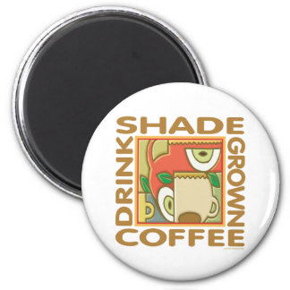 Eco-Friendly Shade Coffee 2 Inch Round Magnet