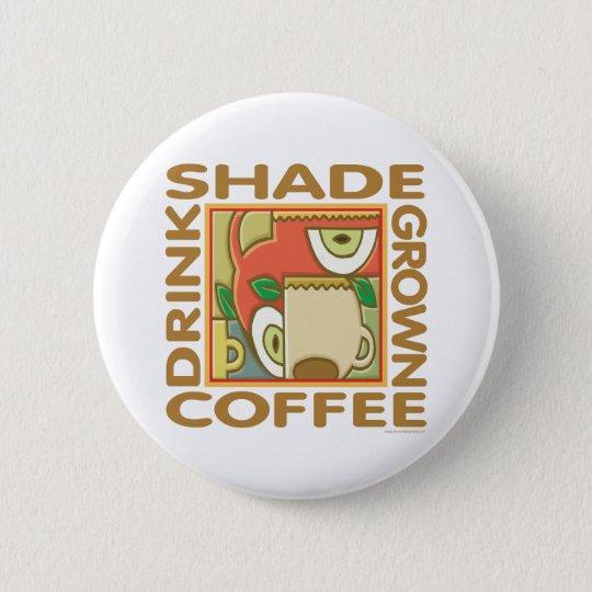 Eco-Friendly Shade Coffee Pinback Button