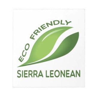 Eco Friendly Sierra Leonean. Notepad