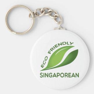 Eco Friendly Singaporean. Basic Round Button Keychain