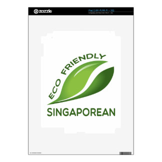 Eco Friendly Singaporean. Decal For The iPad 2