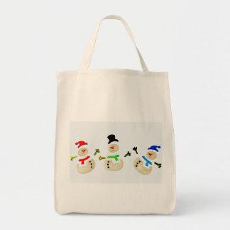 Eco-Friendly Snowman Christmas Parade Reusable Tote Bag