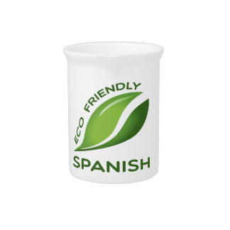 Eco Friendly Spanish. Drink Pitcher