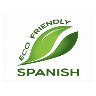 Eco Friendly Spanish. Postcard