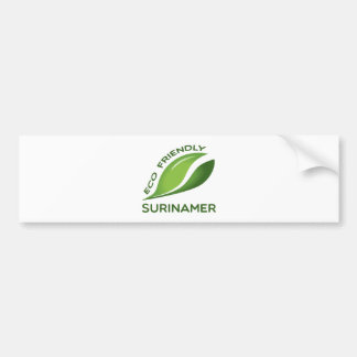 Eco Friendly Surinamer. Bumper Sticker