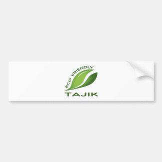 Eco Friendly Tajik. Bumper Sticker
