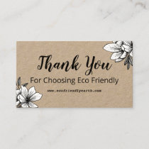 Eco Friendly Thank You Business Card