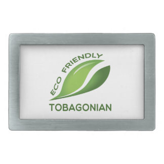 Eco Friendly Tobagonian. Rectangular Belt Buckle