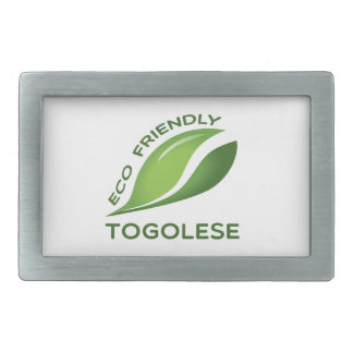 Eco Friendly Togolese. Rectangular Belt Buckle