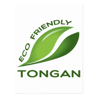 Eco Friendly Tongan. Postcard