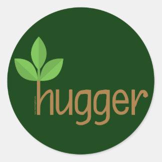 Eco Friendly Tree Hugger Classic Round Sticker
