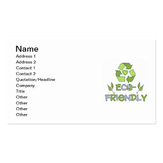 Eco-Friendly Tshirts and Gifts Business Card Templates