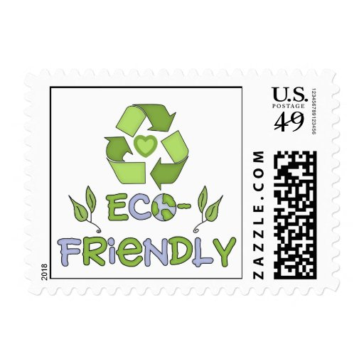 Eco-Friendly Tshirts and Gifts Postage Stamps