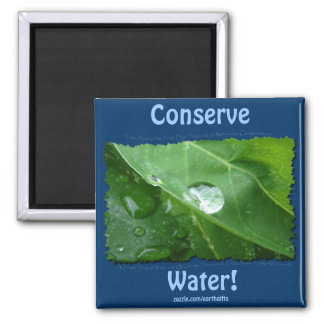 ECO FRIENDLY WATER CONSERVATION Gifts & Gear 2 Inch Square Magnet