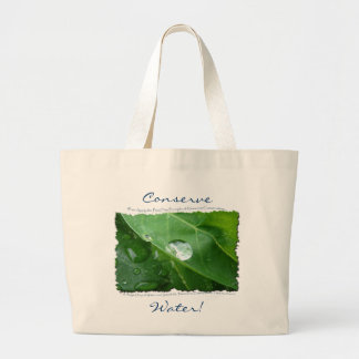 ECO FRIENDLY WATER CONSERVATION Gifts & Gear Jumbo Tote Bag
