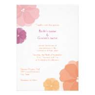 Eco-friendly Watercolor Wedding Invitations