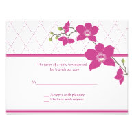 Eco-friendly Wedding Invitation reply cards