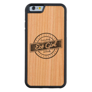 Eco Girl Carved Cherry iPhone 6 Bumper Case