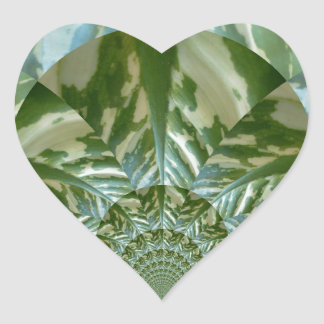 Eco - Going Green Environmental Friendly Colors Heart Sticker