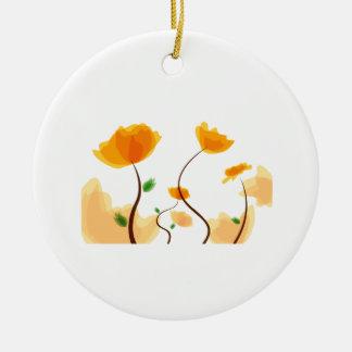 Eco gráfico design.png de la flor anaranjada ornamentos para reyes magos