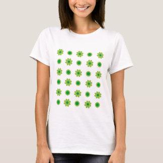 Eco Green Background ladies tshirt