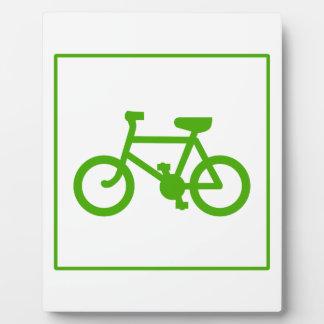 Eco Green Bicycle icon, bike, ecology Plaque