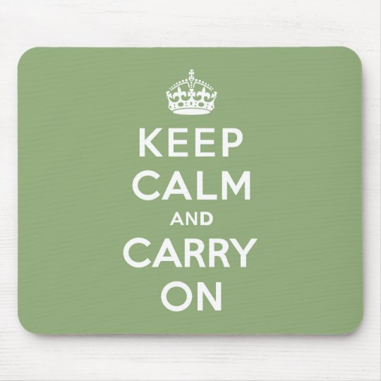 Eco Green Keep Calm and Carry On Mouse Pad