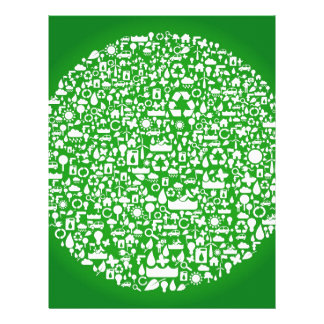 Eco Green Save the World Customized Letterhead